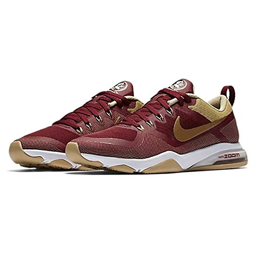 Nike Air Zoom Fitness College (florida State) Träningsskor Womens Storlek 9,5 (granat, Guld, Vit, Svart)