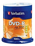 Verbatim Life Series DVD-R Disc Spindle, Pack of 100
