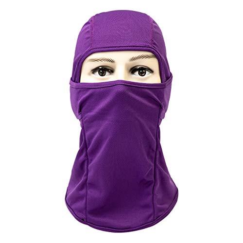 MChoice❤️Breathable Dustproof Face Mask Cycling Helmet Balaclava CS Ninja Hood (Purple) ()