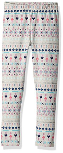 Legging Fair Isle (Osh Kosh Girls' Kids Full Length Legging, Grey Fair Isle, 7)