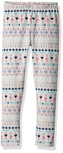 Osh Kosh Girls' Kids Full Length Legging, Grey fair isle, 7