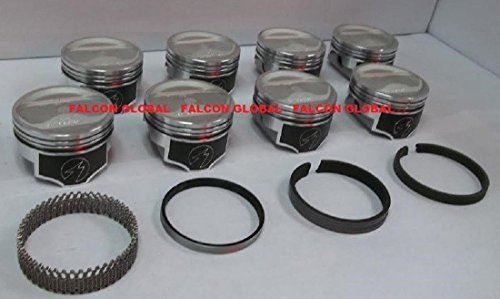 Speed Pro/TRW AMC Jeep 401 Forged Dish Coated Pistons+MOLY Rings Kit +30 (.030 bore)