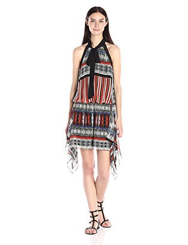 Twelfth Street by Cynthia Vincent Women's Water Dress, Patchwork Scarf Ginger Multi, Small