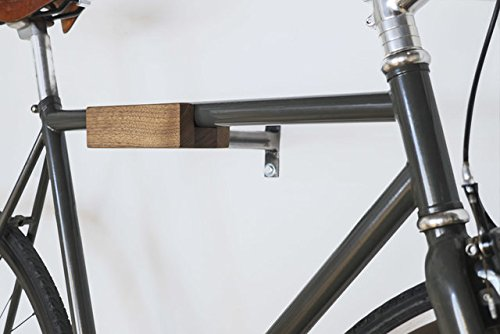 Play-Haus Design Walnut and Steel Indoor Bicycle Wall Mount Hanger Rack 2'' by Play-Haus Design (Image #5)