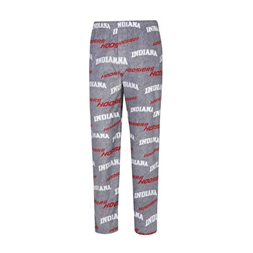 (Concept Sport Indiana Hoosiers Adult NCAA Achieve Fleece Pajama Pants - Gray, Large)