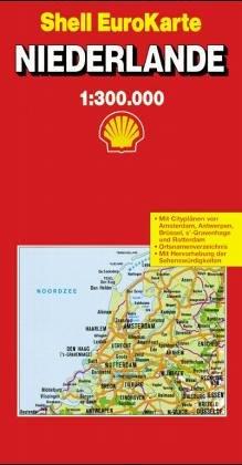 Niederlande 1   250 000  Die Große Shell Autokarte . Mit Notrufnummern Und Wichtigen Verkehrs  Tips
