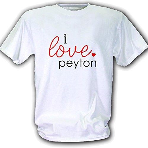 Love Peyton T-shirt - I Love peyton T-Shirt - White - Medium