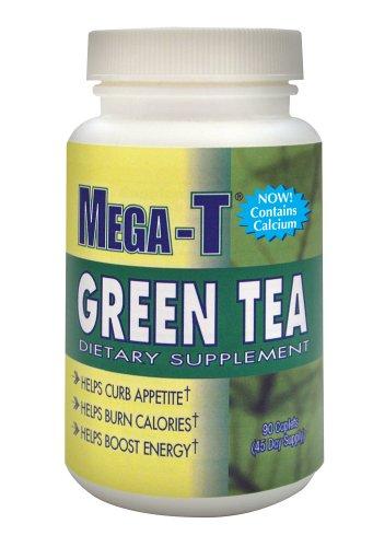 Mega-T complément alimentaire verts Caplets extrait de thé, 90-Count Bottle (Pack de 2)