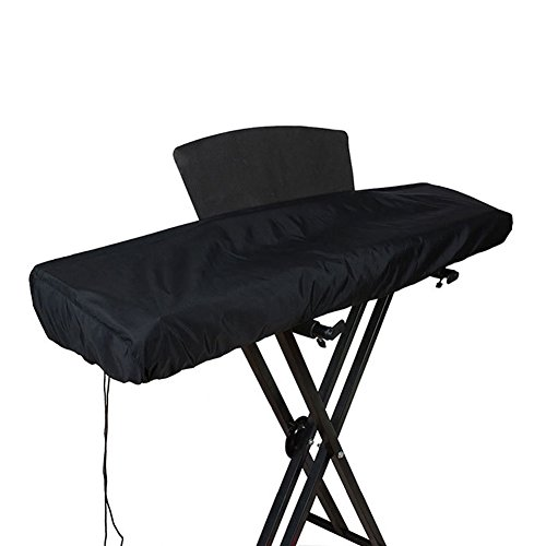 61/88 Keys Electronic Piano Keyboard Dust Cover Waterproof Dust Proof Keyboard Bags Cases Covers Made of Polyester & Spandex with Built-In Bag Elastic Cord Locking Clasp HCZ14-US 88 Keyboard Black