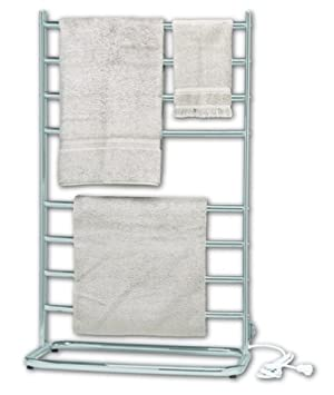 Warmrails WHC Hyde Park Family Size Floor Standing Towel Warmer, Chrome Finish