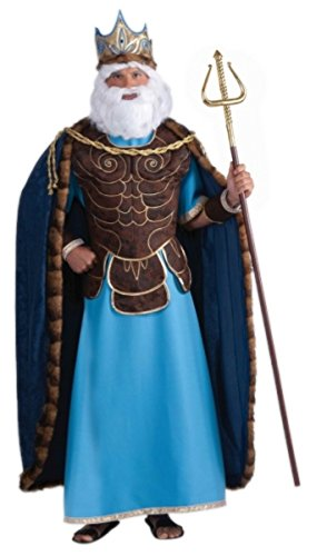 Adult King Neptune God of the Sea Costume - Standard up to 42 inch (Sea God Costume)