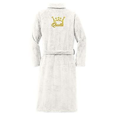 Custom Apparel R Us Premium Women Plush Robe Queen Embroidered Luxurious, Super Soft, Comfortable