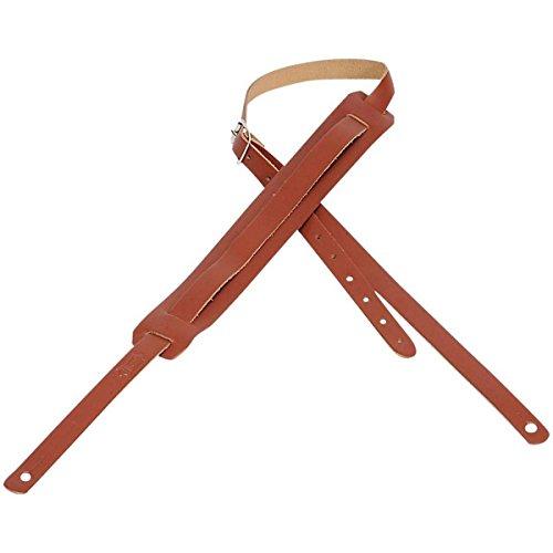 Loog Guitars Leather Slim Strap Walnut - Travel Guitar Strap