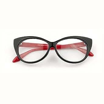 Red Sexy Retro Women Eyeglasses Frame Fashion Clear Lens Cat Eye ladies Eye Glasses