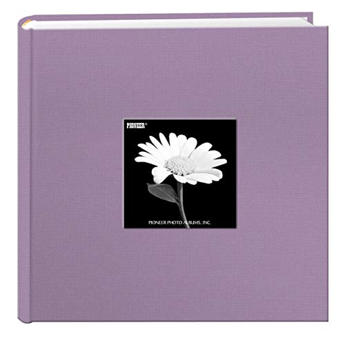 Fabric Frame Cover Photo Album 200 Pockets Hold 4x6 Photos, Misty Lilac