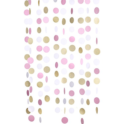 lings-moment-paper-circle-garland-25-dots-9-feet-long-pack-of-10-for-wedding-baby-shower-festival-it