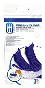 Catit Drinking Fountain Replacement Carbon Filter Cartridge for Fresh & Clear Drinking Fountain - 3-Pack
