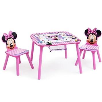 Disney Kindersitzgruppe Minnie Mouse Tisch + 2 Stühle Netz ...
