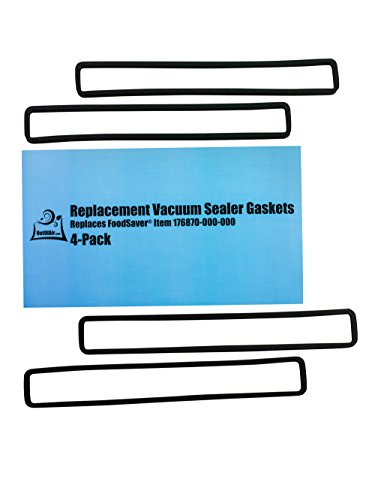 FoodSaver Replacement Gaskets (4 Foam Gaskets) - Fits FM2000, FM2010, FM2100, GM2050, GM2150 Series Vacuum Sealers (Replaces FoodSaver Item 176870-000-000) by OutOfAir (The Foodsaver Fm2000 Vacuum Sealer Fm2000 000)