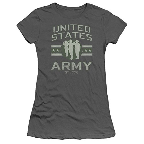 Price comparison product image ARMY United States Army 1775 Distressed Graphic Soldier Solute Jrs Sheer T-Shirt