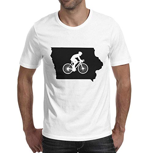 Milr Gile Men's Iowa Bike IA Round Neck T-Shirts,Summer Casual Short Sleeve Tee]()