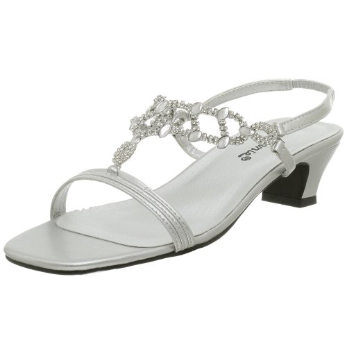 Allison Sandal (Annie Women's Allison Evening Dress Sandal,Silver,9.5 WW)