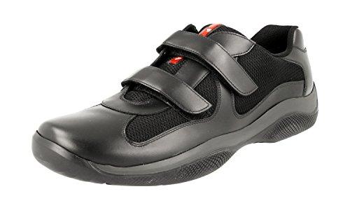 Prada Men s 4P0723 Black Leather Sneaker EU 9…