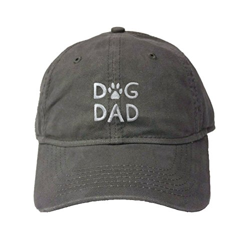Go All Out Adjustable Charcoal Adult Dog Dad Embroidered Deluxe Dad Hat
