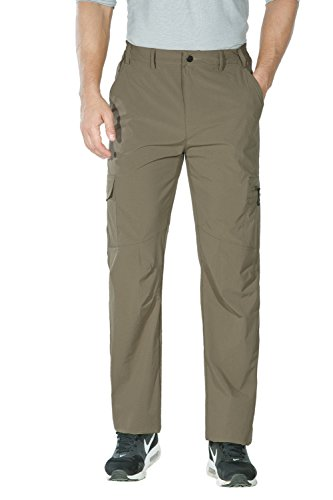 Unitop Men's Quick Dry Lightweight Water Resistant Hiking Cargo Pants Light Khaki 34waist/32 Inseam