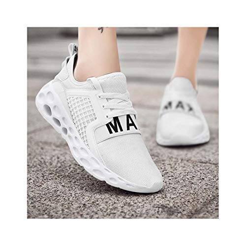 KKEPO& Letter Unisex Shoes Men Mesh Sneakers Casual Shoes Man Trainers Walking Shoes Male Outdoor Footwear Size 46 Couple Tenis White 6.5]()