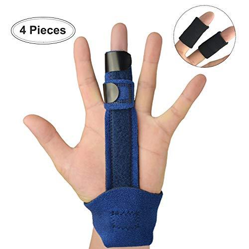 (Trigger Finger Splint for Middle Finger, Adjustable Finger Support Brace and Finger Sleeves for Mallet Finger, Pinky Finger, Knuckle Immobilization, Arthritis,)
