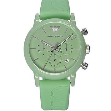 Reloj cronógrafo de pulsera Emporio Armani Hombre, relojes mujer con fecha y correa de silicona