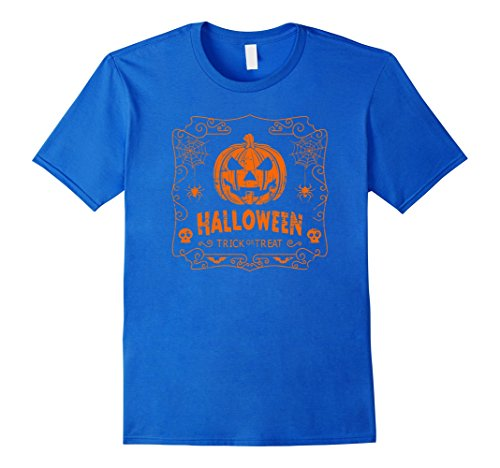 Men's Halloween Costume Vintage Pumpkin Classic T Shirt Small Royal Blue (Creative Halloween Costumes Ideas)