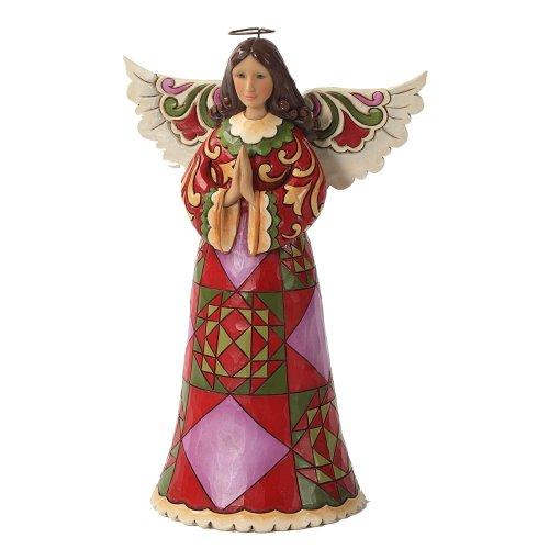 (Enesco Jim Shore Heartwood Creek Christmas Angel Praying Figurine, 9.5-Inch)