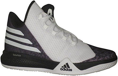adidas Performance Men's Light Em Up 2 Basketball Shoes,White/Black/Onix Grey,10 M US (High Top Basketball Shoes)