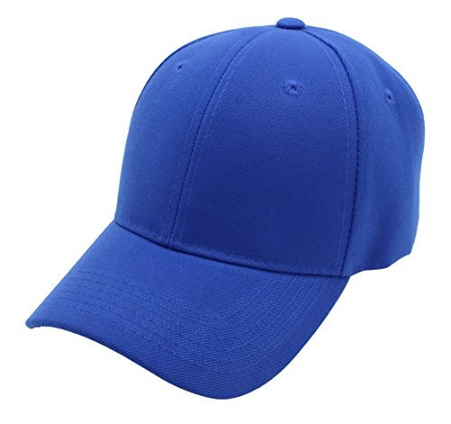 Baseball Cap for Men and Women by Top Level Cool Sporting Hat with Adjustable Velcro Backclosure Top Quality, ROYAL BLUE
