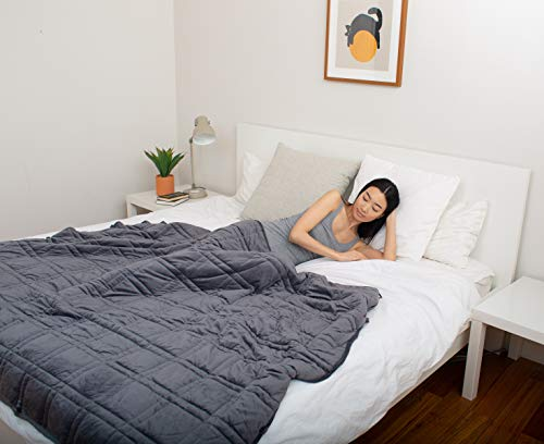 Pine&River Chilled Bamboo Weighted Blanket - Perfect for Warmer Climates - | Chilled Bamboo- (60