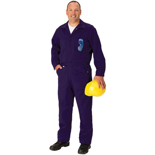 Regular Navy Blue 9 oz 46 TOPPS SAFETY CO25-3805-Reg//46 Indura Ultra Soft Coverall