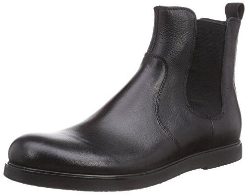 Belmondo 75216601 - botas Chelsea de cuero para hombre negro - negro