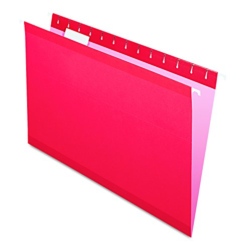 (Pendaflex Reinforced Hanging File Folders, Legal Size, Red, 1/5 Cut, 25/BX (4153 1/5 RED))