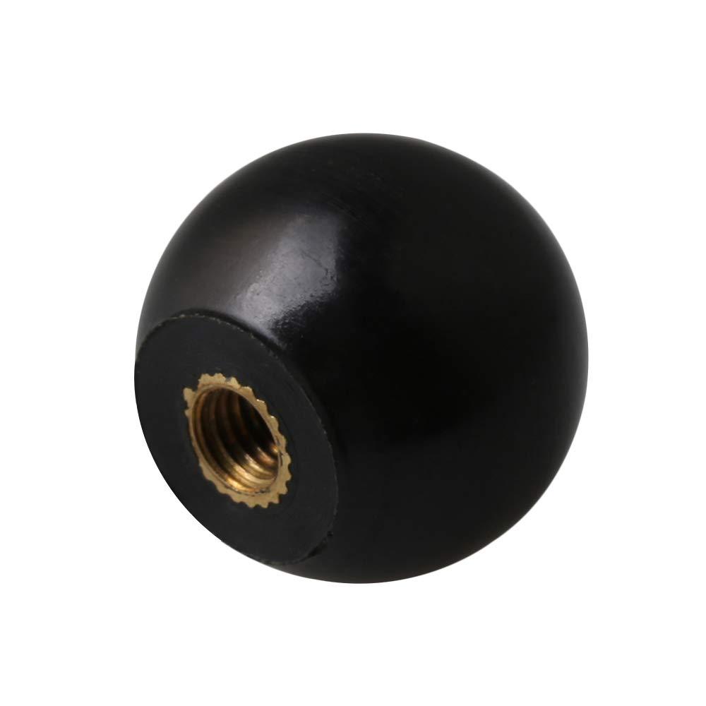 5Pcs Ball Knob Bakelite Ball Lever Knob with Female Thread Black M5x20