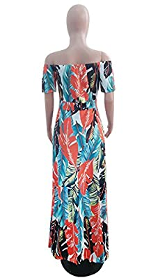 lexiart Romper Split Maxi Dress High Elasticity Floral Print Short Jumpsuit Overlay Skirt for Summmer Party Beach S-5X ¡