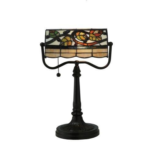 Meyda Tiffany 130760 Vineyard Banker's Table Lamp, 15