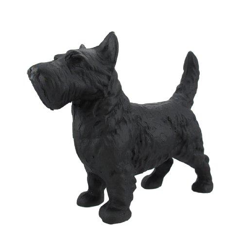 Things2Die4 Cast Iron Scottish Terrier Dog Statue Black Enamel Scottie