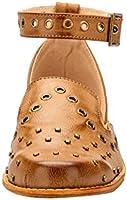 489cc4c472970 LALA IKAI Women Studded Flat Sandal Closed Toe Ankle Strap Leather ...