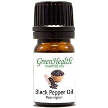 GreenHealth - 5 ml Black Pepper Essential Oil - 100% Pure and Natural