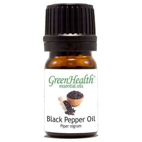 GreenHealth - 5 ml Black Pepper Essential Oil - 100% Pure and Natural (Pepper Oil)