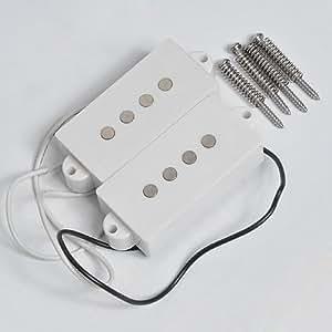 1set white 4 string humbucker pickups for fender. Black Bedroom Furniture Sets. Home Design Ideas