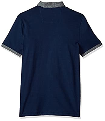 Calvin Klein Men's Short Sleeve Polo With Chest Stripe Color Block