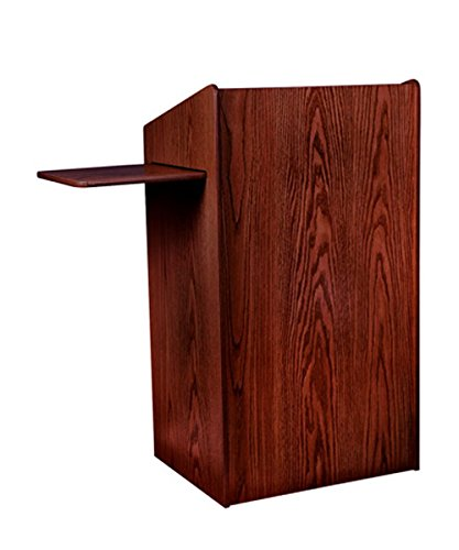 Oklahoma Sound The Aristocrat Wooden Sound Floor Multimedia Lectern Non Sound With Shelf Mahogany electronic consumers